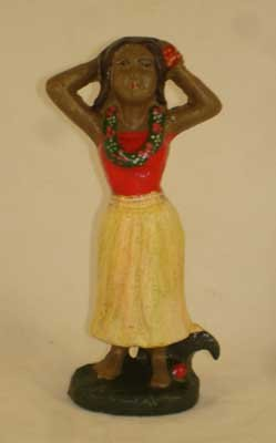 HULA GIRL BOTTLE OPENER CAST IRON A