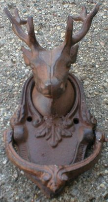 DEERHEAD DOOR KNOCKER CAST IRON