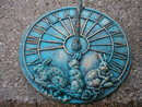RABBIT SUNDIAL CAST IRON HOME GARDEN DECOR R