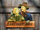 BARN SWEET BARN SIGN WALL PLAQUE WESTERN COWBOY COWGIRL SIGN