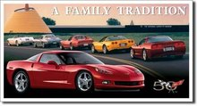 CORVETTE C6 TIN SIGN METAL RETRO ADV SIGNS C