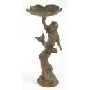MERMAID BIRD FEEDER CAST IRON RUSTIC