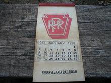 PENNSYVANIA RAILROAD CALENDER 1938
