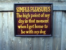 SIMPLE PLEASURES HIGH POINT OF MY DAY SIGN