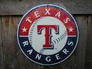 TEXAS RANGERS BASEBALL SIGN METAL ADV AD SIGNS T