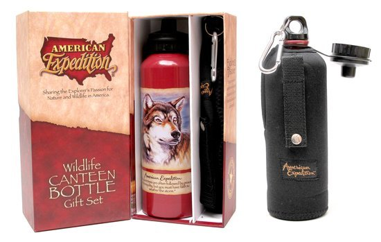 GRAY WOLF CANTEEN UNIQUE OUTDOOR BOTTLE