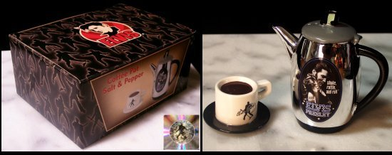 ELVIS PRESLEY COFFEE POT CUP SALT PEPPER SHAKERS