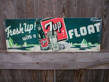 SEVEN UP FLOAT TIN  ADV RETRO SIGN