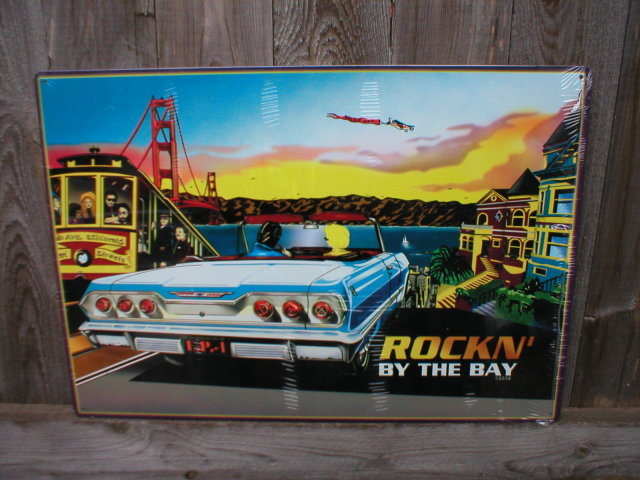 ROCKIN BY THE BAY RETRO METAL ADV SIGNS R