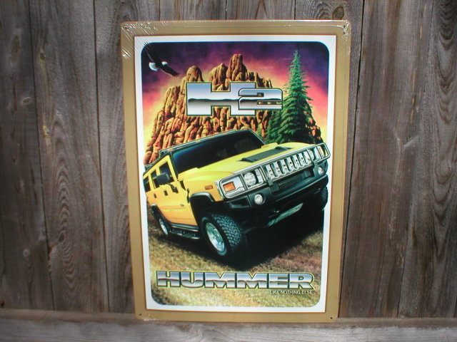 HUMMER YELLOW TIN SIGN