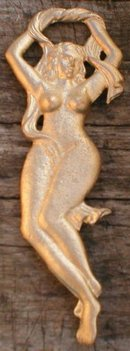 LADY BOTTLE OPENER CAST IRON NAKED WOMAN O