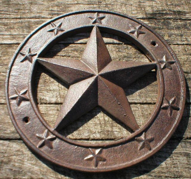 STAR WALL PLAQUE CAST IRON