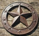STAR WALL PLAQUE CAST IRON