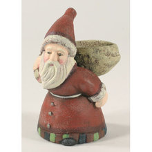 SANTA CLAUS CANDLE VOTIVE CAST IRON IRONWARE DECOR