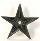 FOUR SMALL CAST IRON BLACK STARS IRONWARE DECOR