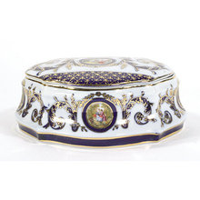 JEWELRY BOX  ELEGANT PORCELAIN NIGHT STAND DECOR