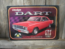 DODGE DART GTS MUSCLE CAR TIN SIGN