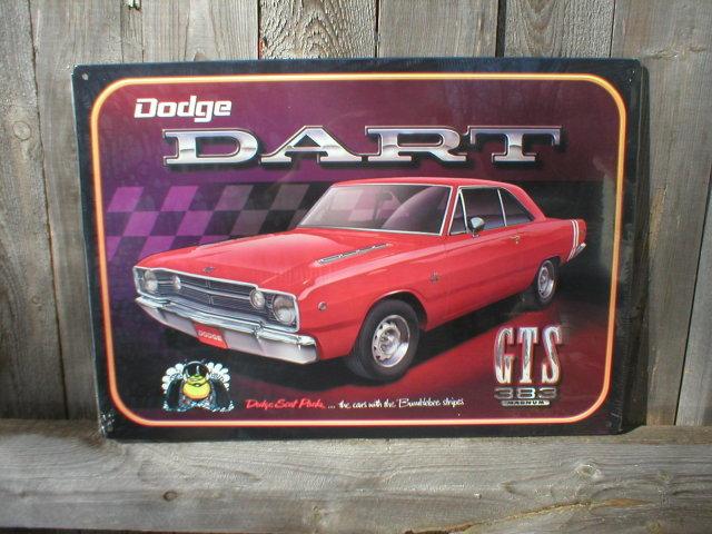 DODGE DART GTS MUSCLE CAR TIN SIGN