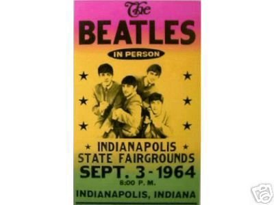 BEATLES 1964 INDIANAPOLIS CONCERT POSTER