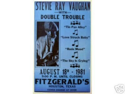 STEVIE RAY VAUGHN CONCERT POSTER PRINT