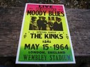 MOODY BLUES THE KINKS POSTER PRINT ADV AD PICTURE K