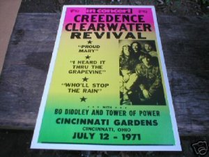 CREEDENCE CLEARWATER REVIVAL CONCERT POSTER  PRINT