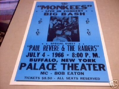MONKEES CONCERT 1966 ADV POSTER PICTURE PRINT M