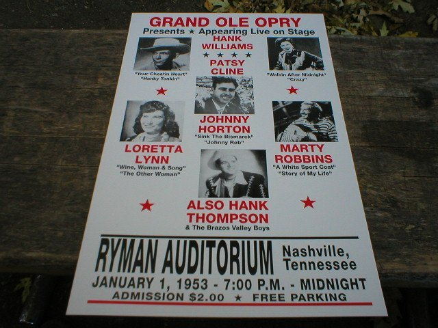 GRAND OLE OPRY CONCERT POSTER PRINT PICTURE O