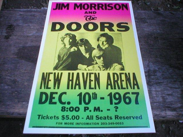 JIM MORRISON 1967 LIVE MUSIC CONCERT POSTER M