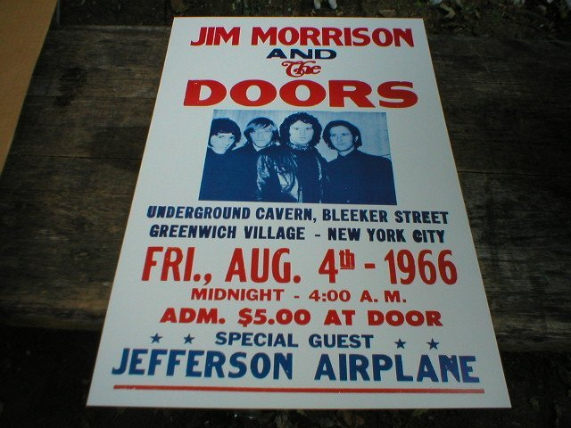 JIM MORRISON 1966 LIVE MUSIC CONCERT POSTER PRINT M