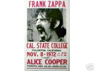 FRANK ZAPPA CONCERT POSTER ADV PRINT AD POSTER F