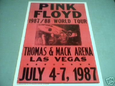 PINK FLOYD 1987 CONCERT POSTER PRINT ADV AD PICTURE PIC