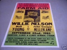 WILLIE NELSON 1985 CONCERT POSTER PRINT ADV AD PICTURE
