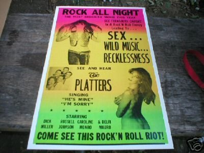ROCK ALL NIGHT THE PLATTERS CONCERT POSTER PRINT PIC P