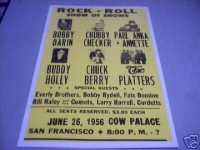ROCK & ROLL SHOW OF SHOWS - 1956 - CONCERT POSTER