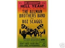 ALLMAN BROTHERS BAND SAN DIEGO 1974 CONCERT ADV POSTER