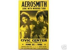 AEROSMITH CONCERT POSTER ADV AD PICTURE PRINT A