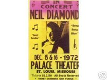 NEIL DIAMOND CONCERT ADV POSTER PRINT AD PICTURE N