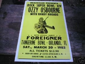 OZZY OSBOURNE FOREIGNER CONCERT POSTER PIC PRINT O
