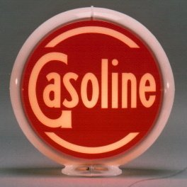 GASOLINE GAS PUMP GLOBE SIGN