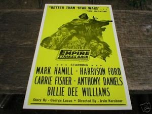 THE EMPIRE STRIKES BACK POSTER PIC PRINT ADV AD SIGN E