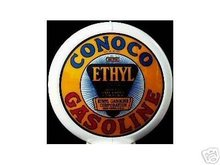 CONOCO ETHYL GAS PUMP GLOBE SIGN C