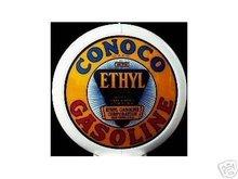 CONOCO ETHYL GAS PUMP GLOBE SIGN C