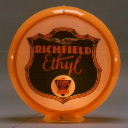 RICHFIELD ETHYL GAS PUMP GLOBE SIGN R