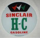 SINCLAIR H-C GASOLINE GAS PUMP GLOBE SIGN P
