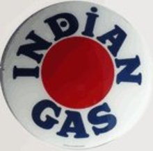 INDIAN GAS GAS PUMP GLOBE SIGN I