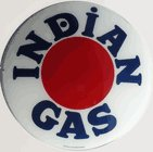 INDIAN GAS GAS PUMP GLOBE SIGN