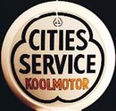 CITIES SERVICE KOOLMOTOR GAS PUMP GLOBE SIGN