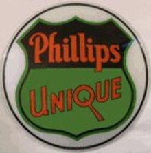 PHILLIPS UNIQUE GASOLINE GAS PUMP GLOBE SIGN P