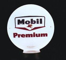 MOBIL PREMIUM GAS PUMP GLOBE SIGN M